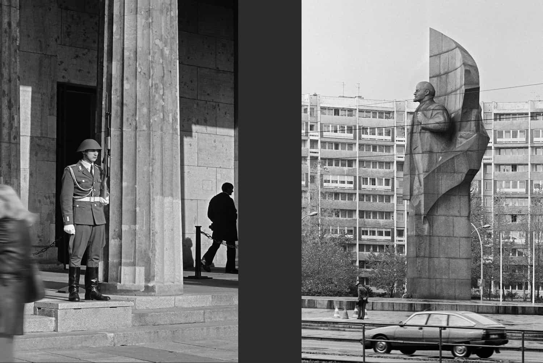MONUMENT AUX VICTIMES DU FASCISME ET MILITARISME À BERLIN + LENINPLATZ, BERLIN EST