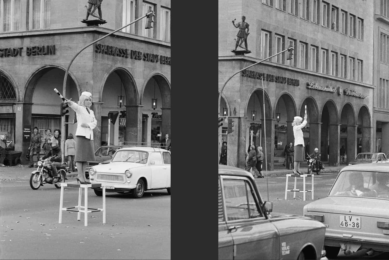 UNE POLICIÈRE DANS LE CENTRE DE BERLIN EST