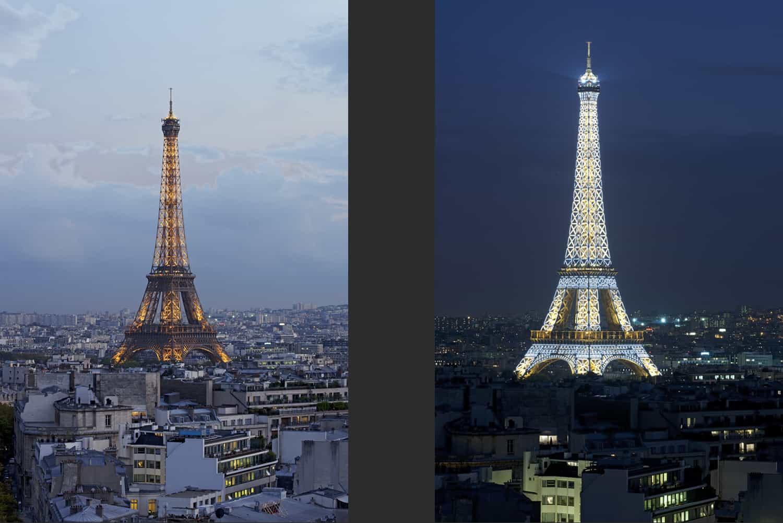 La Tour Eiffel vue de l'Arc de Triomphe