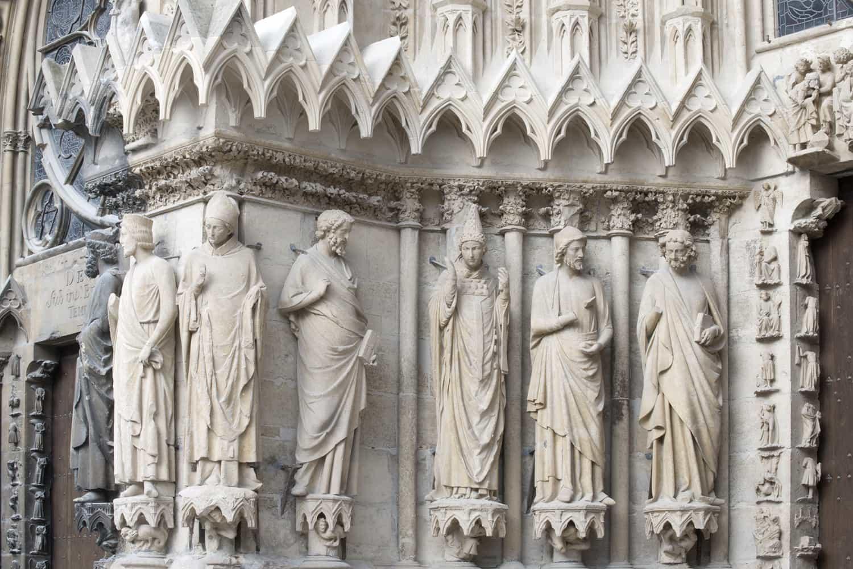 Cathédrale de Reims, façade occidentale, portail sud, ébrasement nord