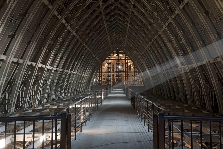 Cathédrale de Reims combles de la nef