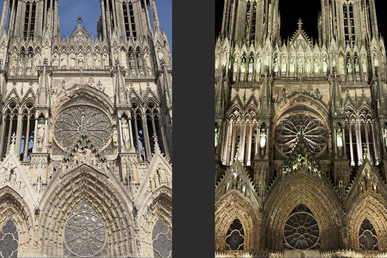 Façade principale de la cathédrale de Reims