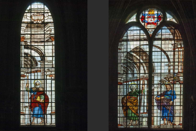 Vitraux de l'église Saint-Eustache à Paris